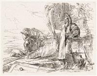 filosofo in piedi e due figure (from vari capricci) by giovanni battista tiepolo