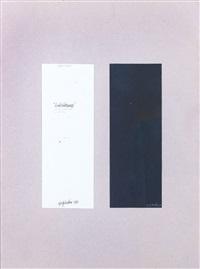 quaderni verticali (diptych) by giorgio vicentini