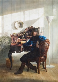 woman at a chinese desk by john gable