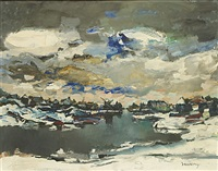 winter aan de leie by albert saverys