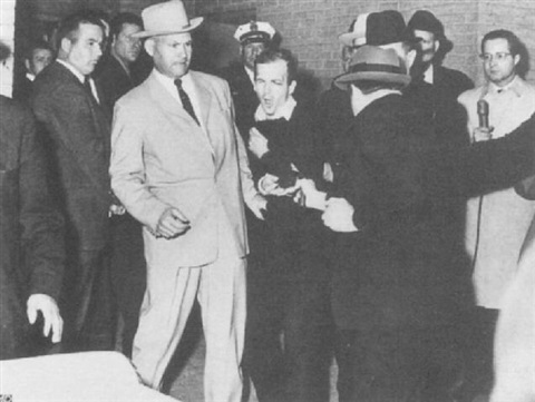 lee harvey oswaldbeing shot by jack ruby by robert h bob jackson