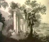 rast bei dem tempel by johann gartner