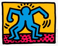 pl.1 from 'pop shop ii' by keith haring