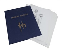 dessins secrets (portfolio of 19) by aslan
