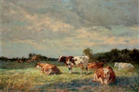 vaches au pâturage by adrien gabriel voisard-margerie