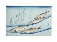 uo zukushi (assortment of fish) (album w/20 works, oban yoko-e) by ando hiroshige