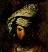 a young woman wearing a turban by giovanni bernardino azzolini