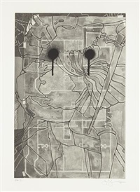 untitled, from geldzahler portfolio by jasper johns