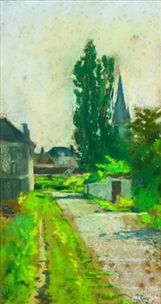 rue de village by louis georges eléonor roy