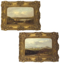 the lake of menteith (+ a prospect of edinburgh; pair) by henry g. duguid