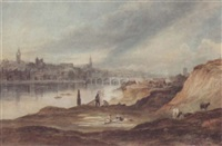 view of newcastle upon tyne from the banks of the tyne by thomas h. hair