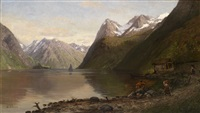 norwegische fjordlandschaft by anders monsen askevold