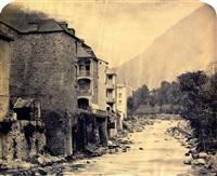 cauteret. vue ... du pont by alphonse jeanrenaud
