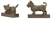 scottish terriers (2 works) by edith barretto stevens parsons