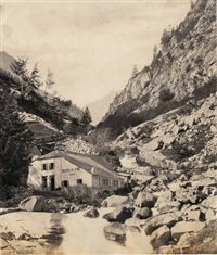 chemin de la source de mauhourat, cauterets by alphonse jeanrenaud