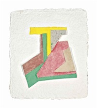nowe miastro (iv), from paper relief project by frank stella