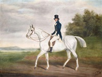 a gentleman on a hunter by james (of bath) loder