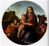 the madonna and child with the infant st. john the baptist by giuliano bugiardini