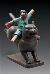 猫 塑铜 (cat) by jiang shuo
