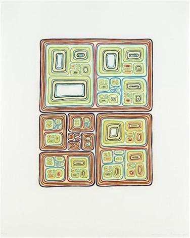 multi-colored nesting unknots (+ recursive lighthouse variation; 2 works) by james siena