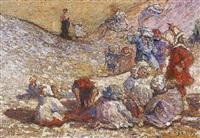 enfants dans les dunes by pierre billet