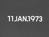 11 jan.1973 (from today series) by on kawara