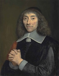 portrait of jean antoine de mesmes (1598-1673), half-length, in black robes by philippe de champaigne