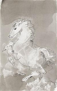 steigendes pferd by hans erni