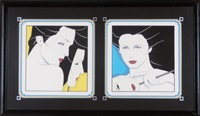 diptych (2 works) by patrick nagel