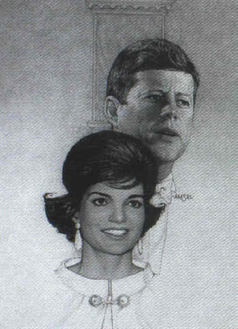 magazine cover john f kennedy and jackie by richard amsel