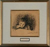 portrait of george ledoyen by camille pissarro