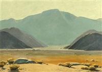 san jacinto, southern california desert landscape by clyde forsythe