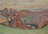 paysage de creuse au crépuscule by armand guillaumin