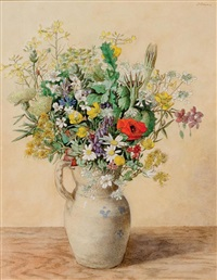 jug of flowers by justin maurice o'brien