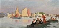 retour de pêche au port de concarneau by marcel-j.-l. jacquier