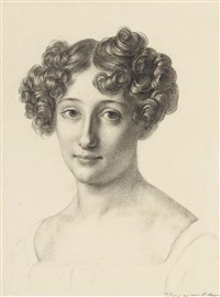 portrait de mademoiselle desirée, baronne poyferré de serres en buste by pauline auzou