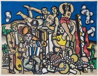 untitled (from album 10 serigraphs; 7 works) by fernand léger