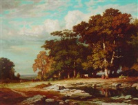 la mare aux fees, barbizon by jean emile renié