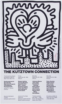 poster for the kutztown connection by keith haring