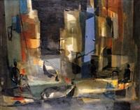 le soir à peniscola by marcel mouly