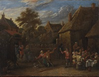 bäuerliches fest im freien by david teniers the younger