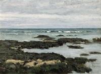 rochers à marée basse sur la côte d'opale by pierre billet