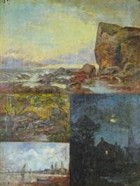 quatre paysages by f. leteurtre