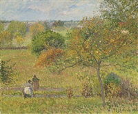 automne à eragny by camille pissarro