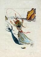 transcendant passage (arches girl; daphne ii) by salvador dalí