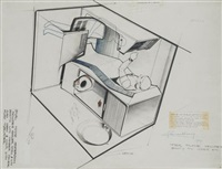 etude de cabine individuelle pour la conquête spatiale (study) by raymond fernand loewy