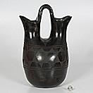 blackware wedding pottery jar by rafalita aguilar