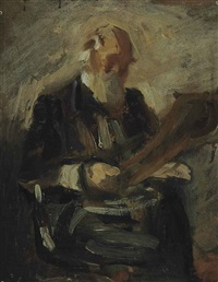 portrait of charles fussell (preliminary study) by thomas eakins
