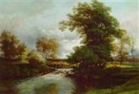 a river landscape by jules andré