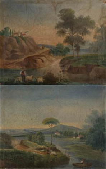 pareja de paisajes pair by josé atienza murillo